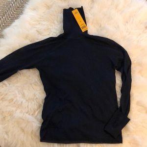 NWT Tory Burch Navy Turtleneck Sweater XL